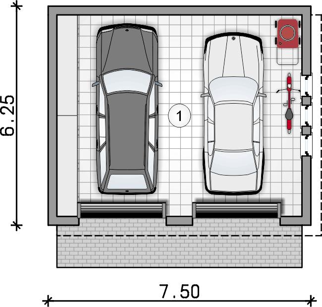rzut parteru - Garaż ZB 9