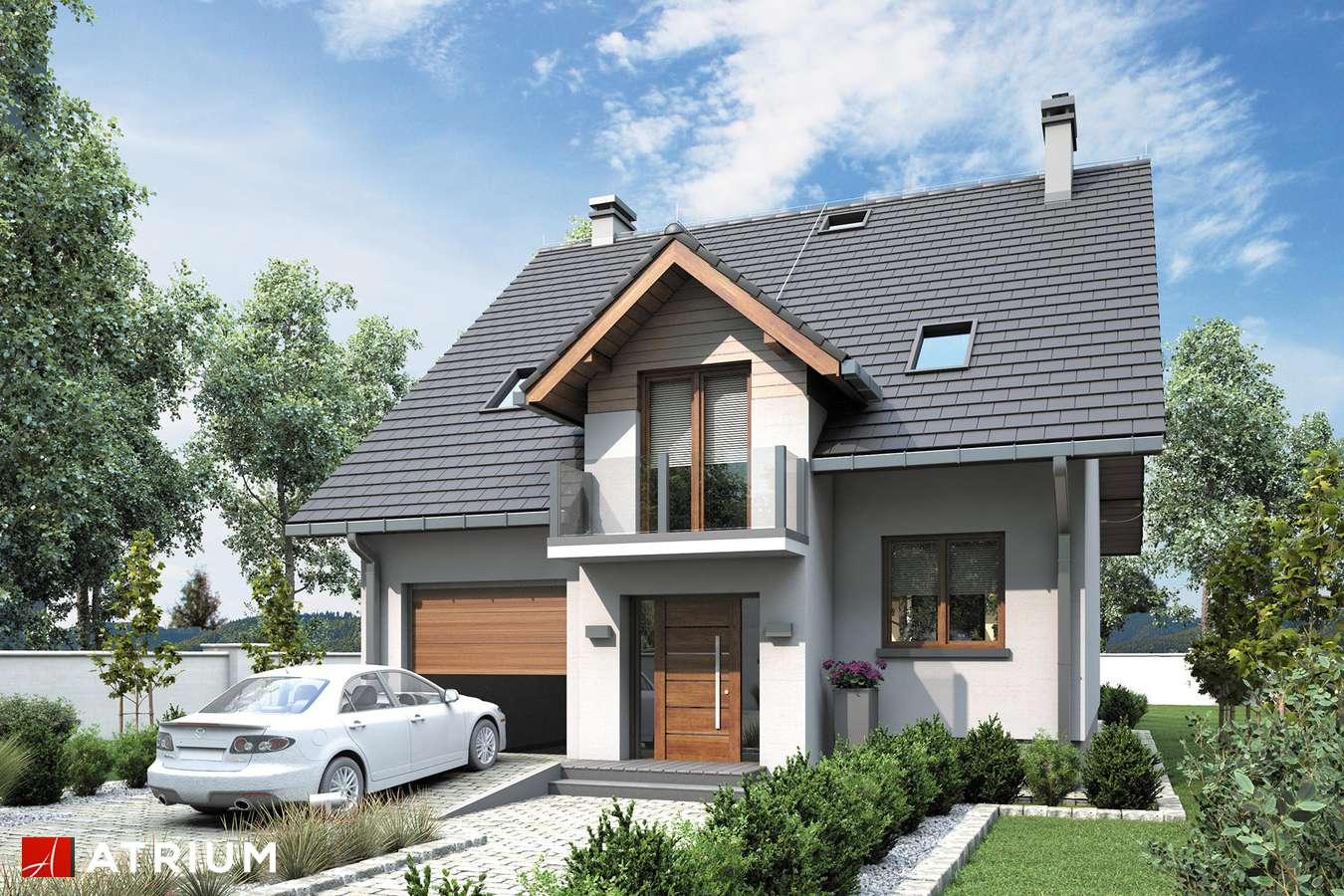 Projekty domów - Projekt domu z poddaszem KANON II BIS - wizualizacja 1 - wersja lustrzana