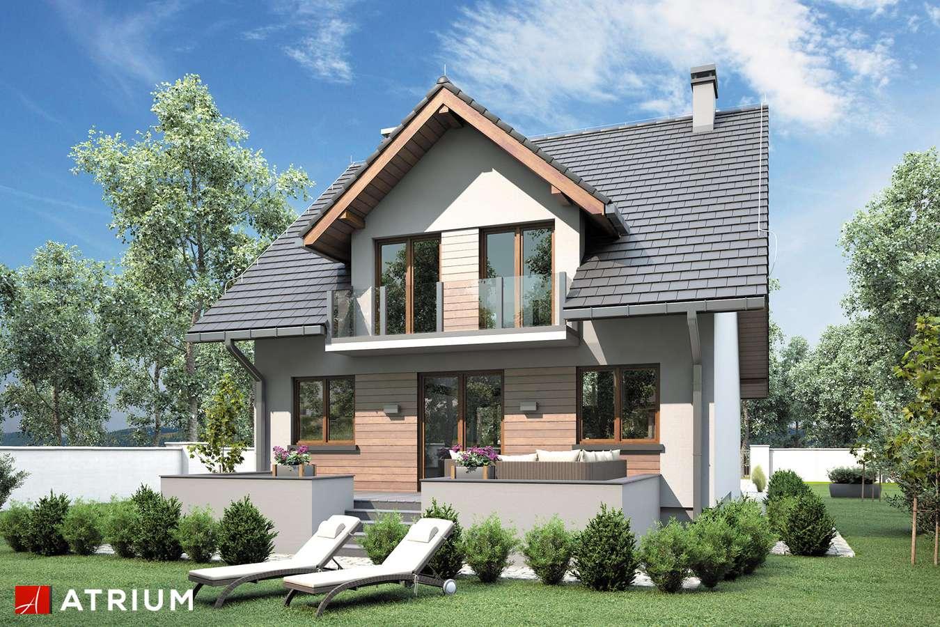 Projekty domów - Projekt domu z poddaszem KANON II BIS - wizualizacja 2 - wersja lustrzana