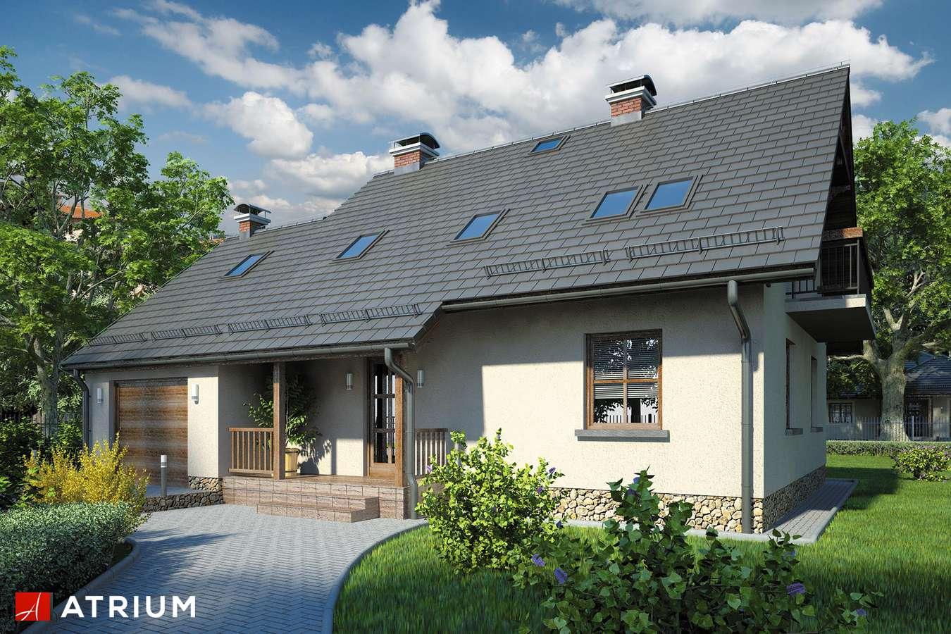 Projekty domów - Projekt domu z poddaszem BRYZA - wizualizacja 1