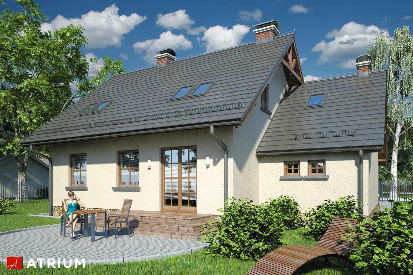 Projekty domów - Projekt domu z poddaszem BRYZA - wizualizacja 2