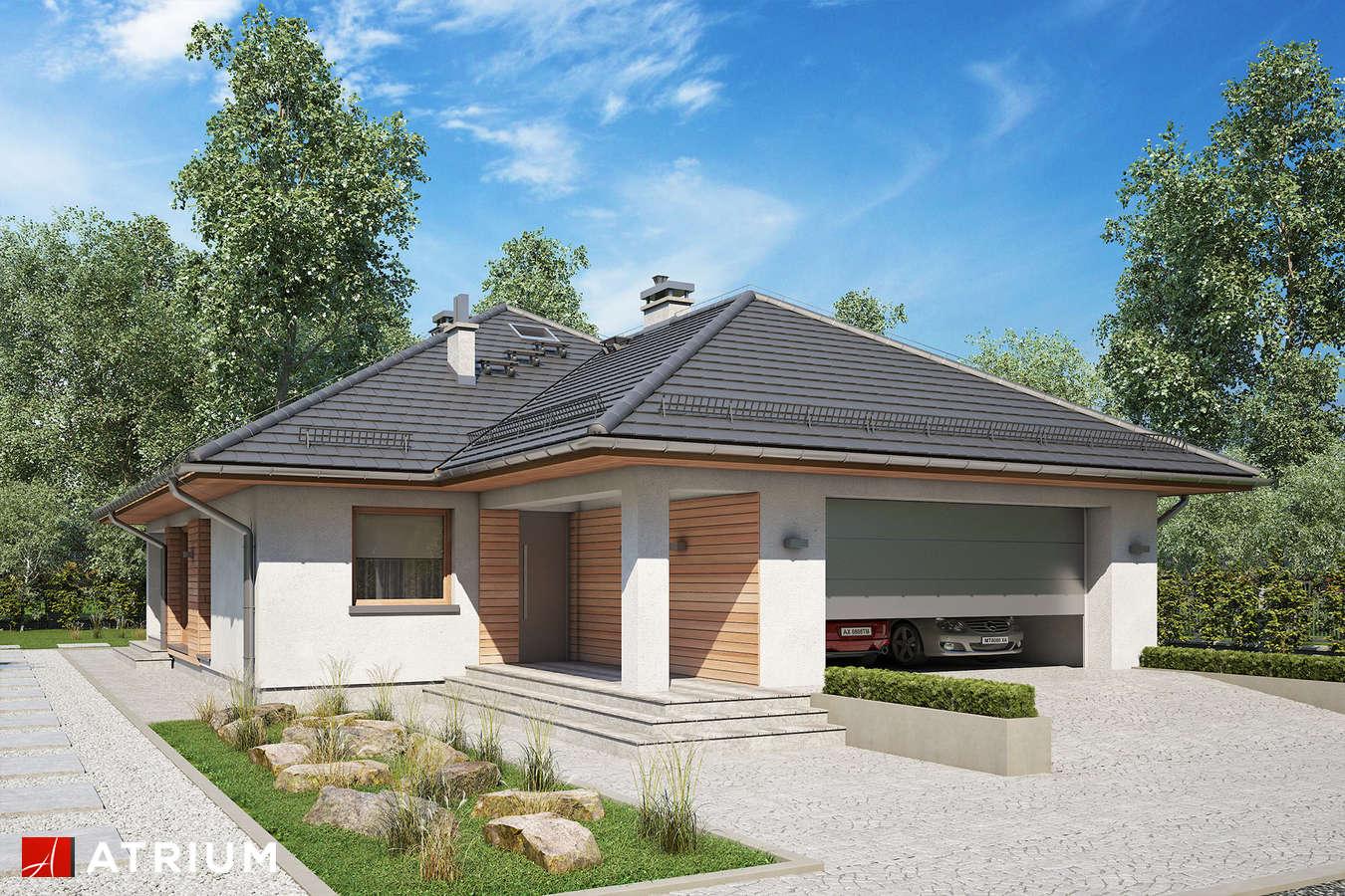 Projekty domów - Projekt domu parterowego BURSZTYN PLUS MAXI - wizualizacja 1