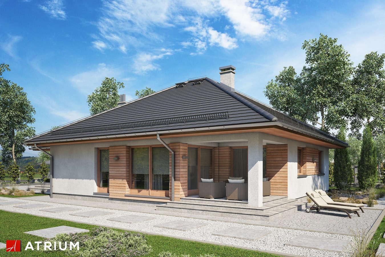 Projekty domów - Projekt domu parterowego BURSZTYN PLUS MAXI - wizualizacja 2 - wersja lustrzana