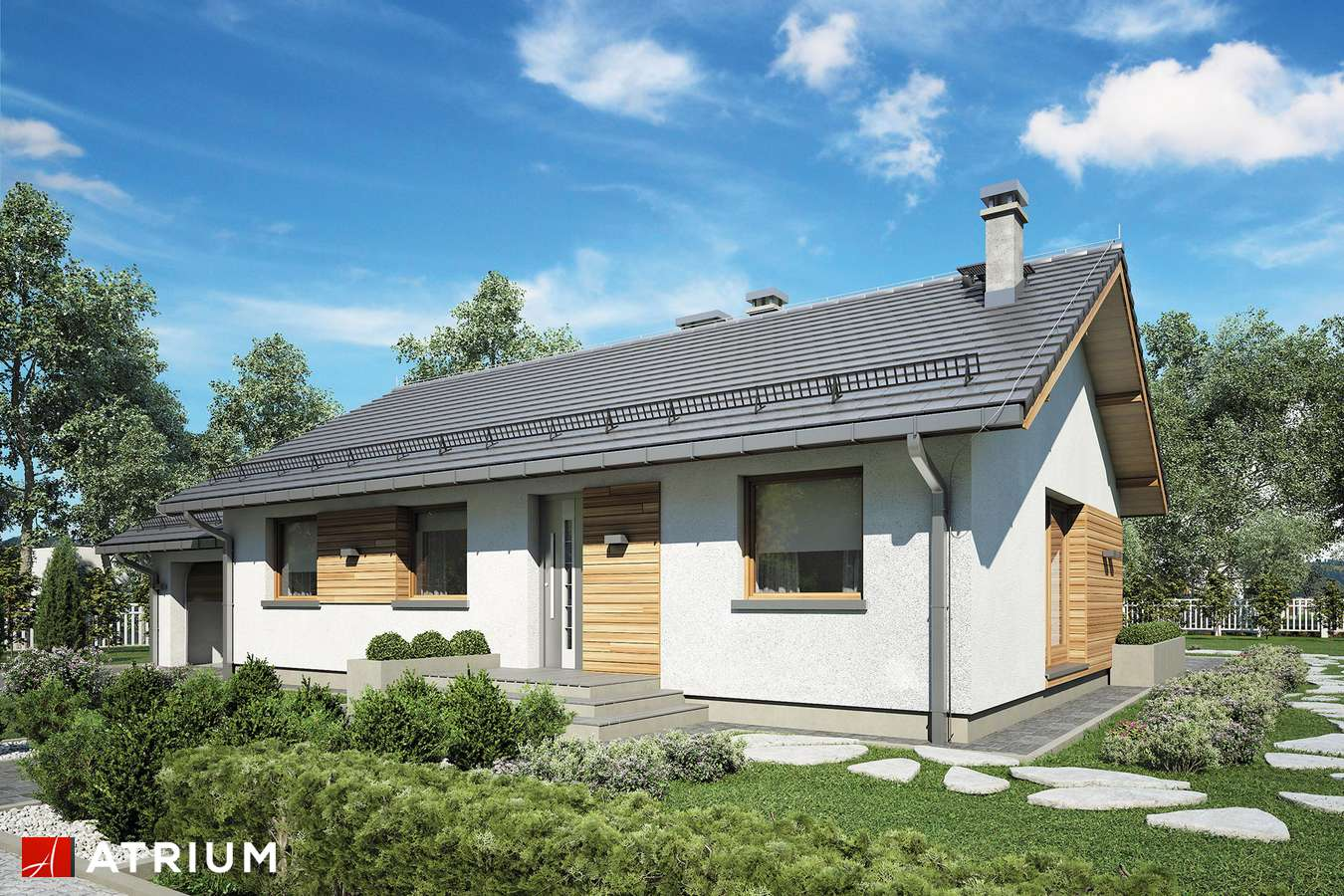 Projekty domów - Projekt domu parterowego AURORA MIDI II - wizualizacja 1