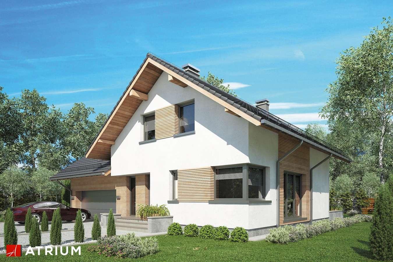 Projekty domów - Projekt domu z poddaszem MALBEC II - wizualizacja 1 - wersja lustrzana