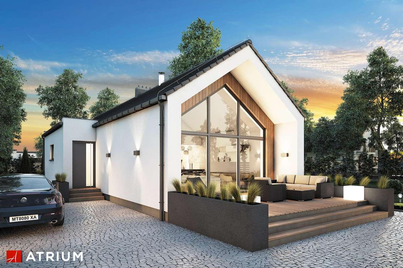 Projekty domów - Projekt domu parterowego NEPTUN III - wizualizacja 1 - wersja lustrzana