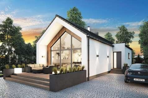 Projekt domu parterowego NEPTUN III - wizualizacja 1
