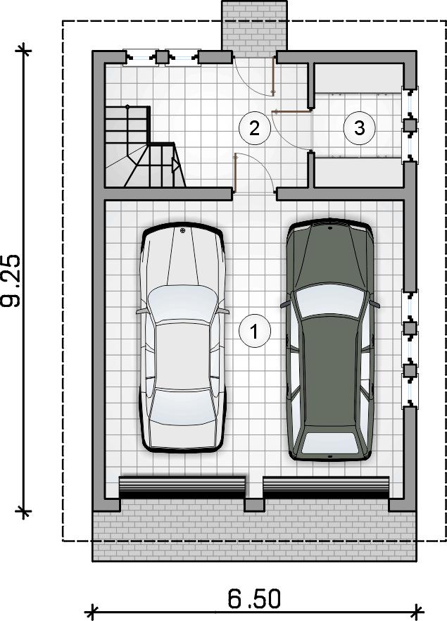 rzut parteru - Garaż Z 44
