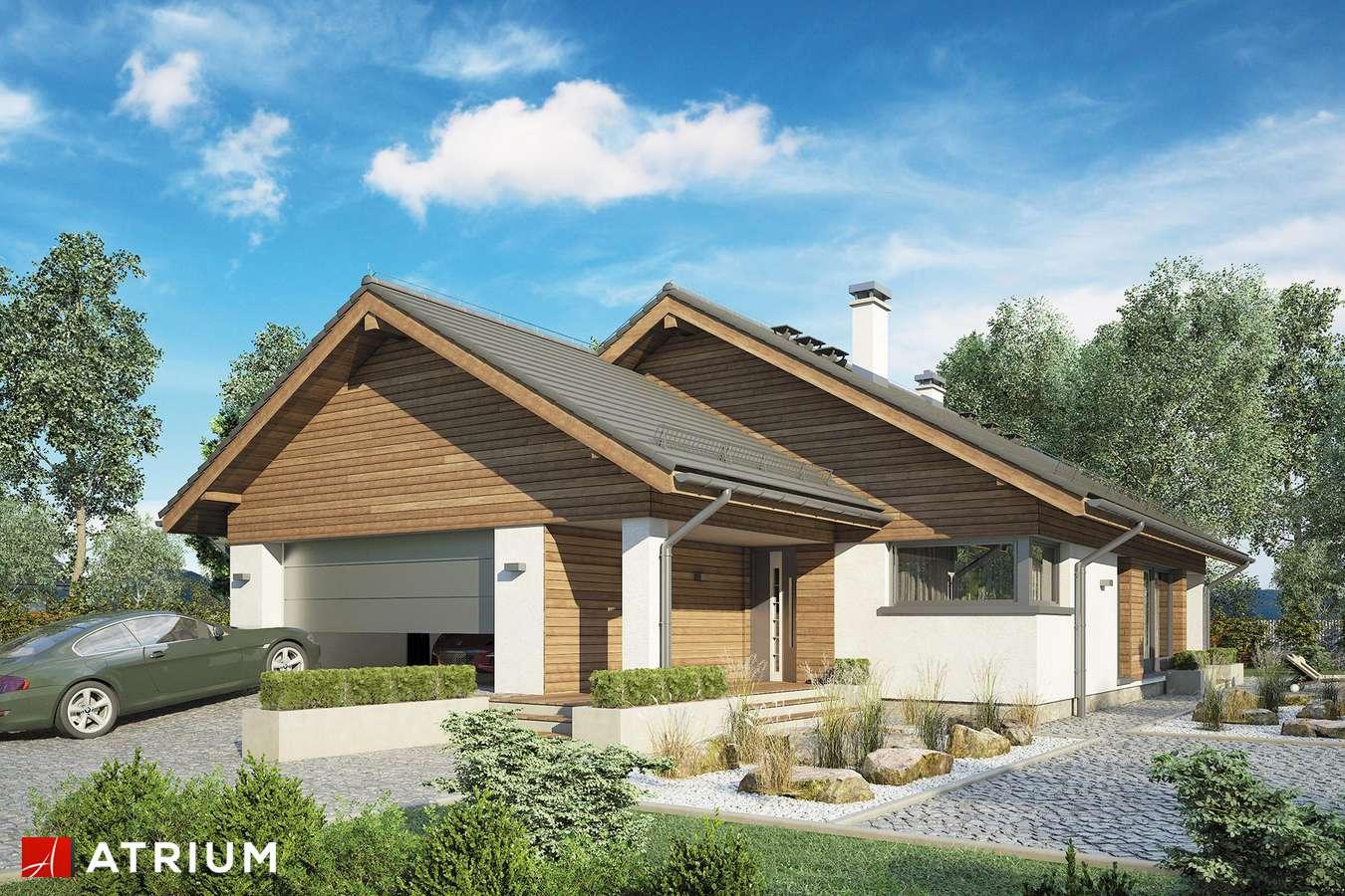 Projekty domów - Projekt domu z poddaszem PLISZKA VI - wizualizacja 1 - wersja lustrzana