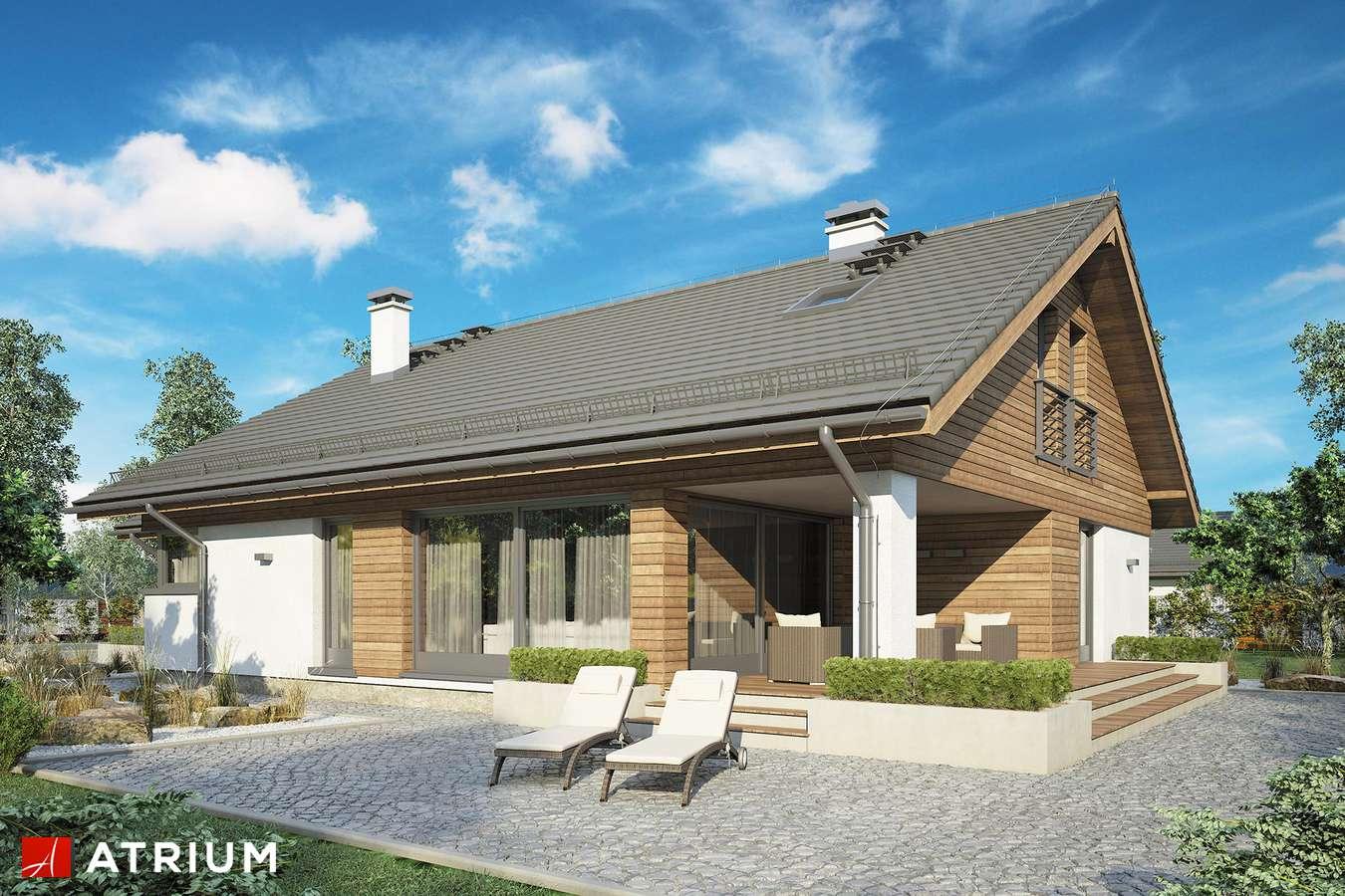 Projekty domów - Projekt domu z poddaszem PLISZKA VI - wizualizacja 2 - wersja lustrzana