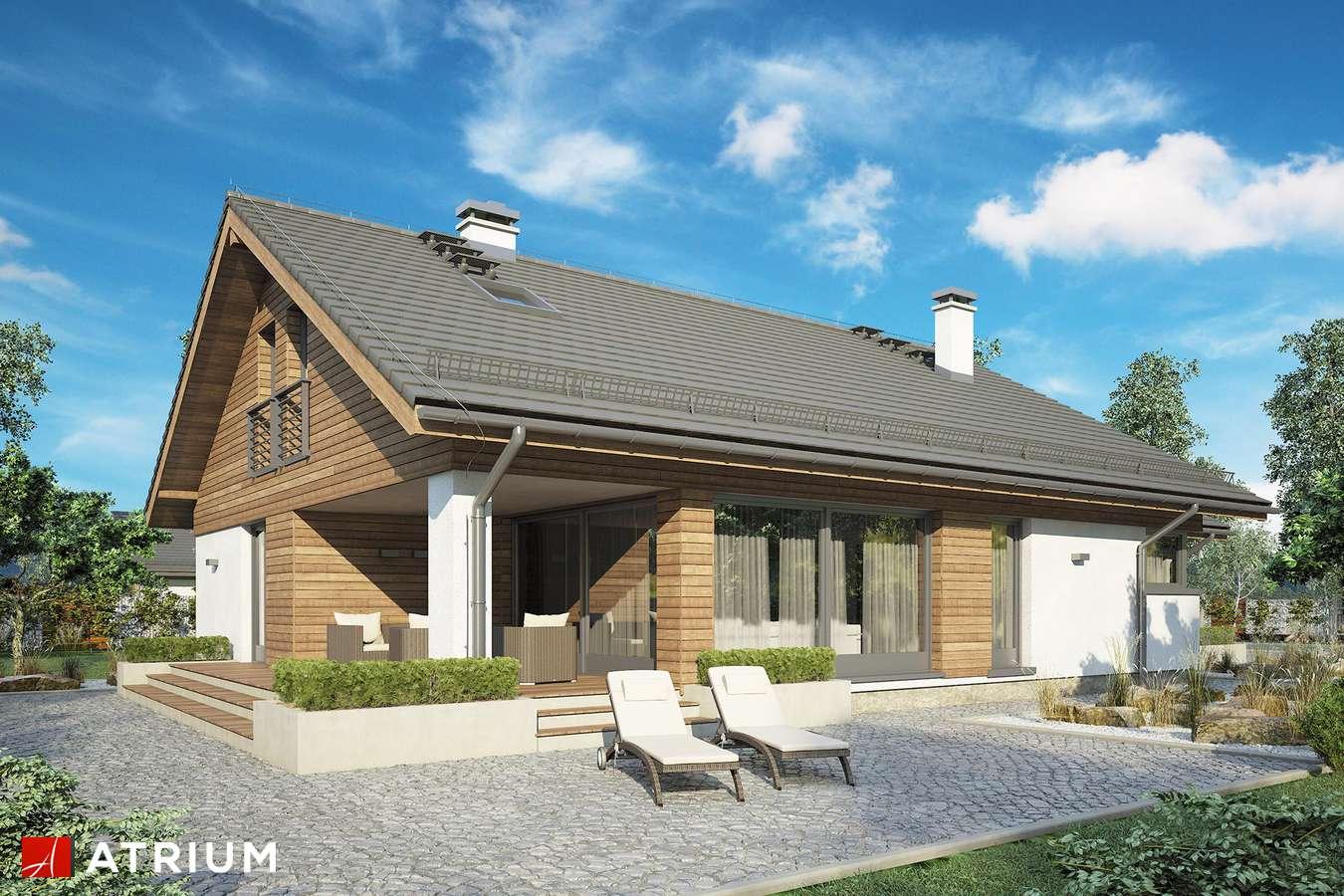 Projekty domów - Projekt domu z poddaszem PLISZKA VI - wizualizacja 2