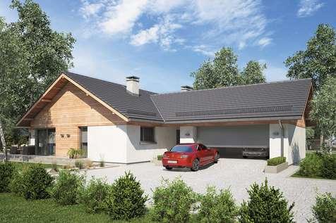 Projekt domu parterowego WINSTON XVII - wizualizacja 1