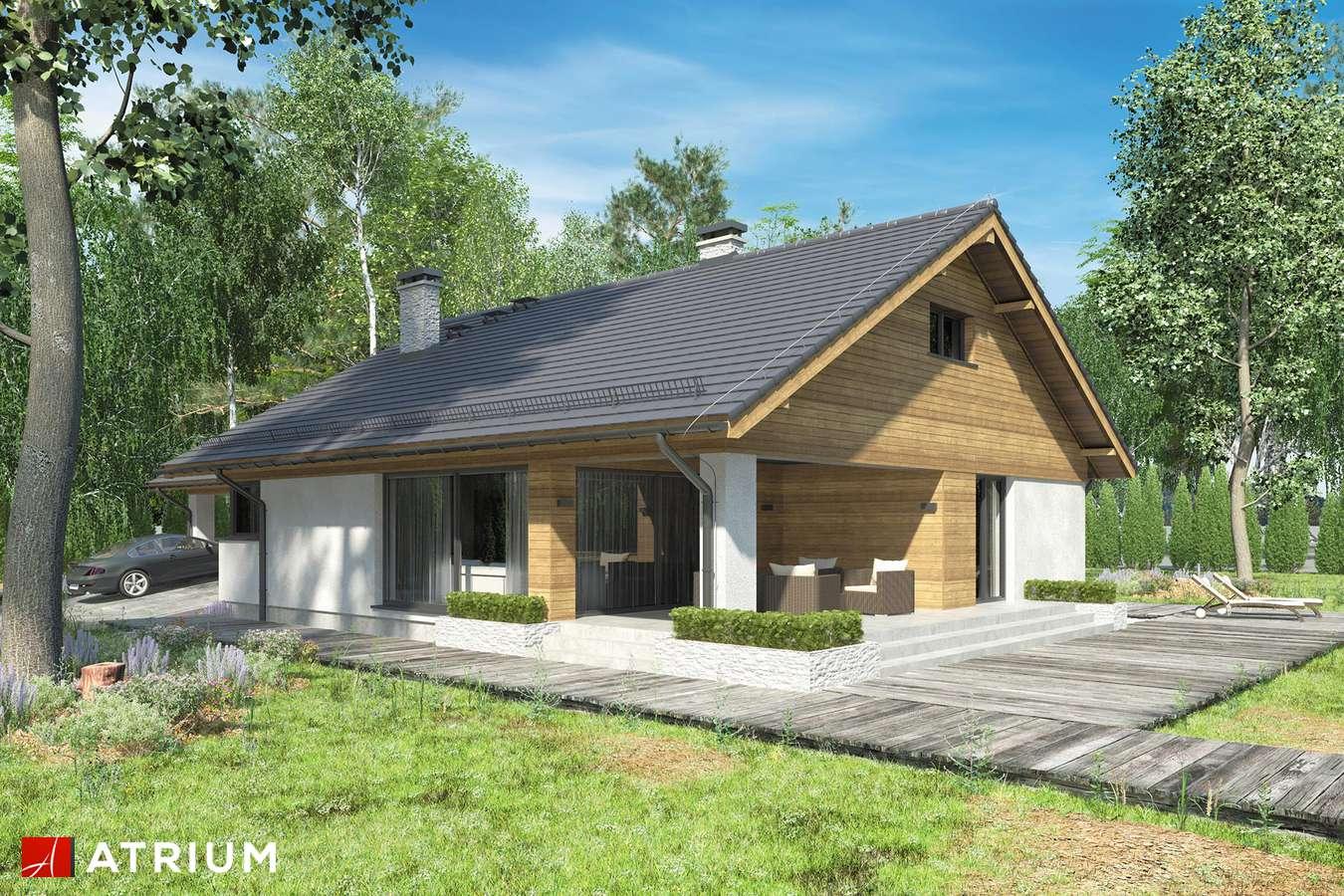 Projekty domów - Projekt domu z poddaszem KOS VI - wizualizacja 1 - wersja lustrzana