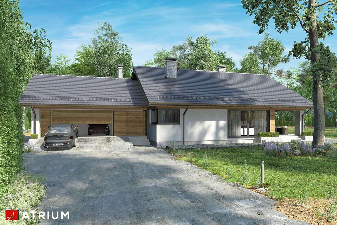 Projekty domów - Projekt domu z poddaszem KOS VI - wizualizacja 2 - wersja lustrzana