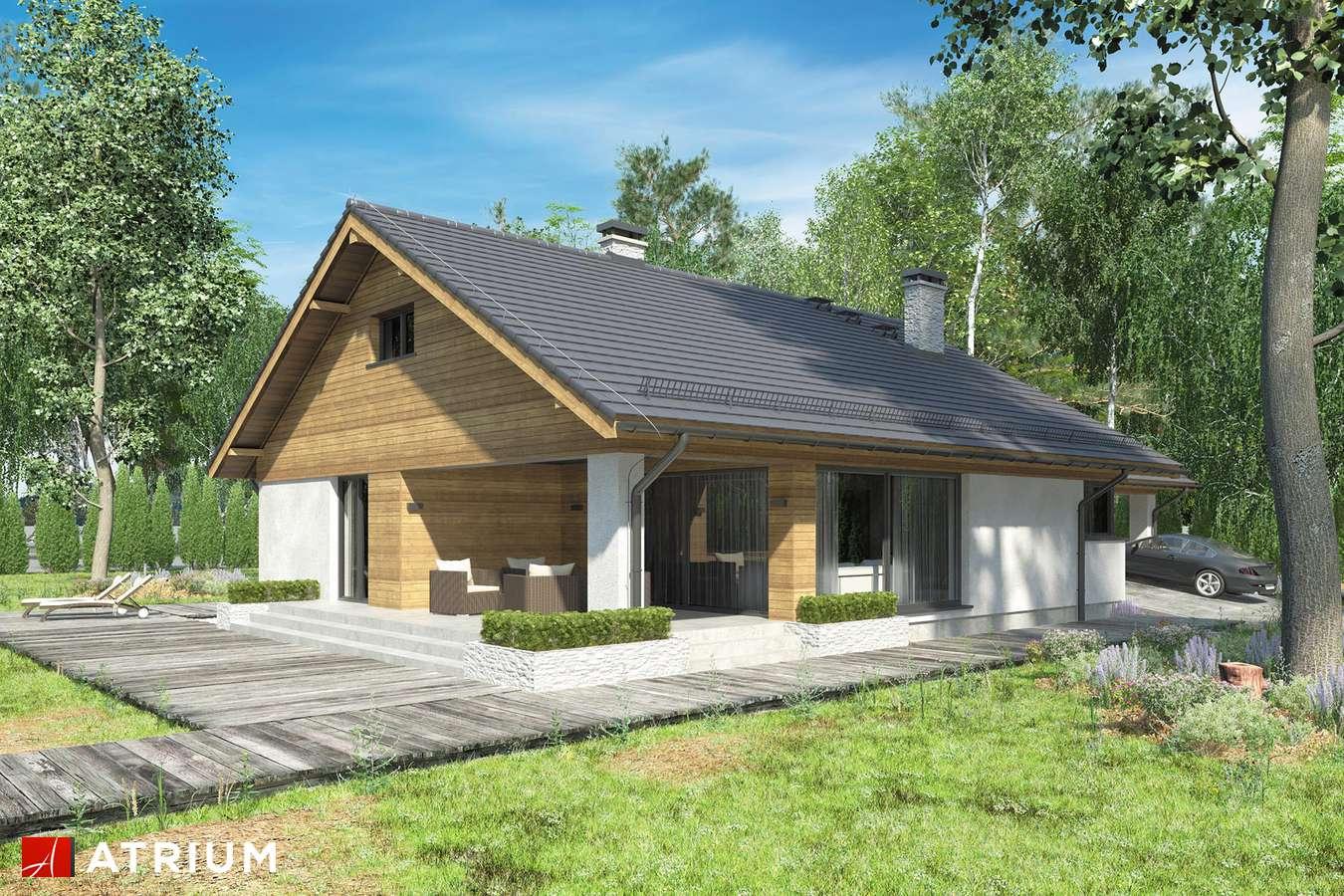 Projekty domów - Projekt domu z poddaszem KOS VI - wizualizacja 1
