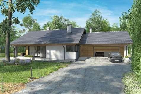 Projekt domu z poddaszem KOS VI - wizualizacja 2