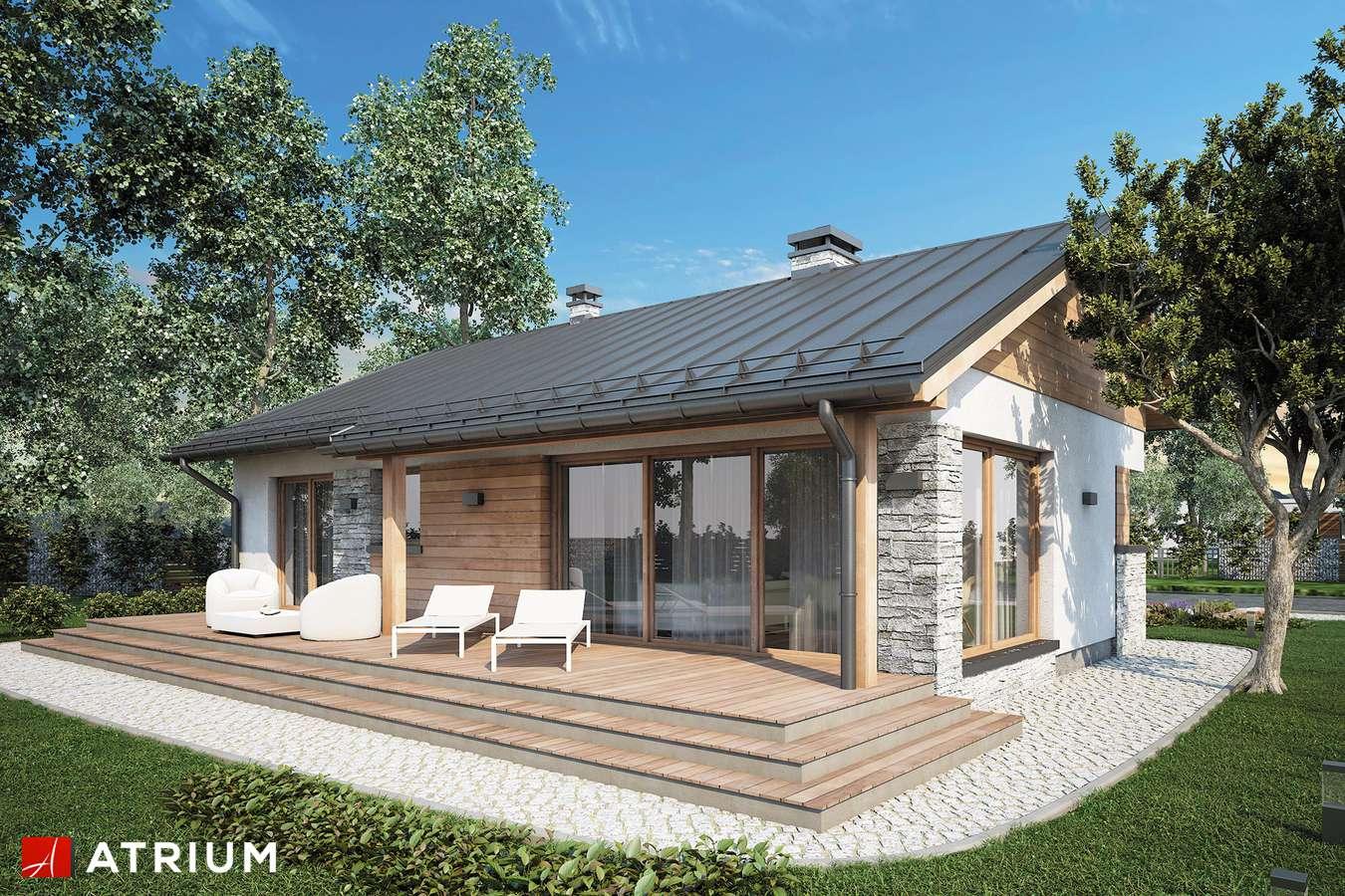 Projekty domów - Projekt domu parterowego ROBERTO - wizualizacja 1 - wersja lustrzana