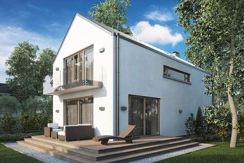Projekt domu z poddaszem BRUNO - wizualizacja 2