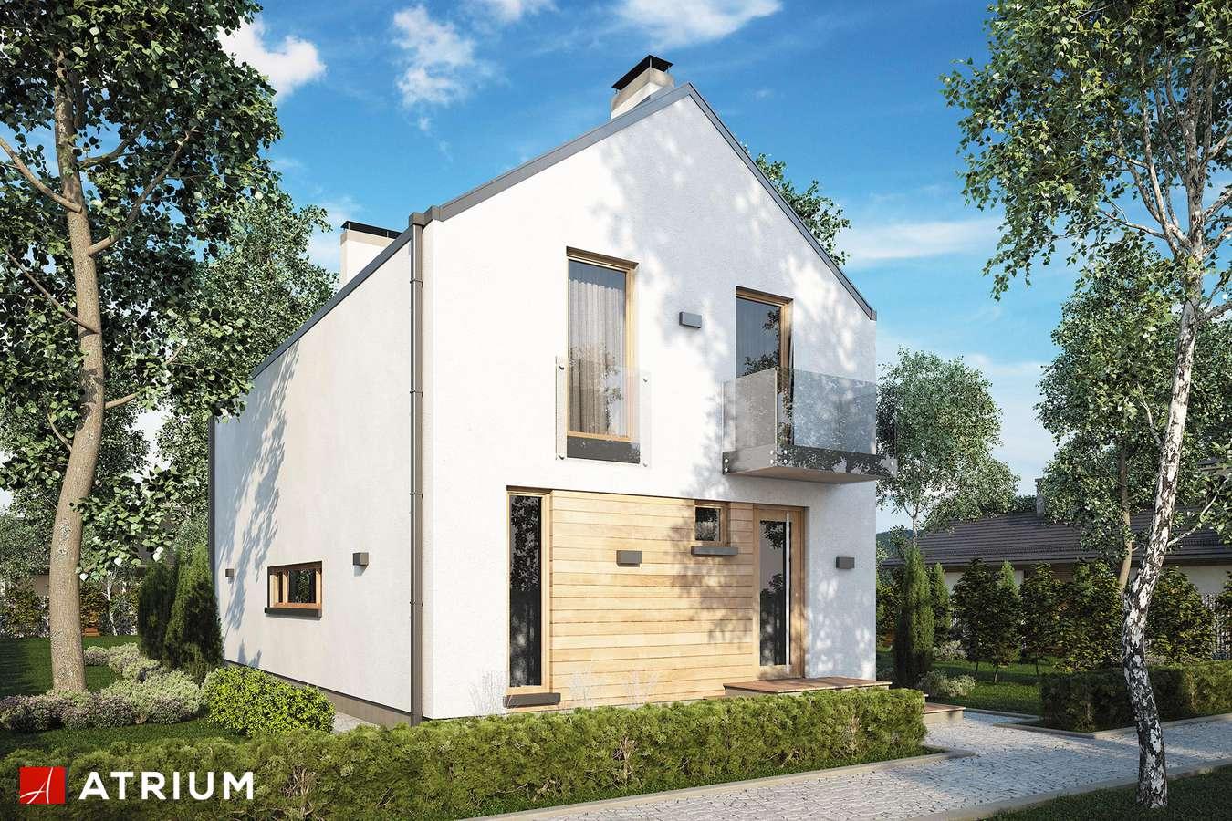 Projekty domów - Projekt domu z poddaszem BRUNO - wizualizacja 1 - wersja lustrzana