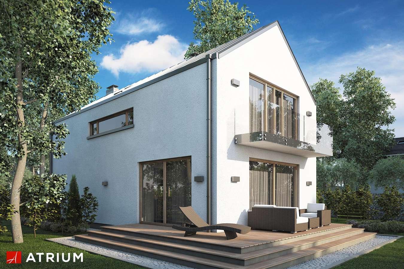 Projekty domów - Projekt domu z poddaszem BRUNO - wizualizacja 2 - wersja lustrzana