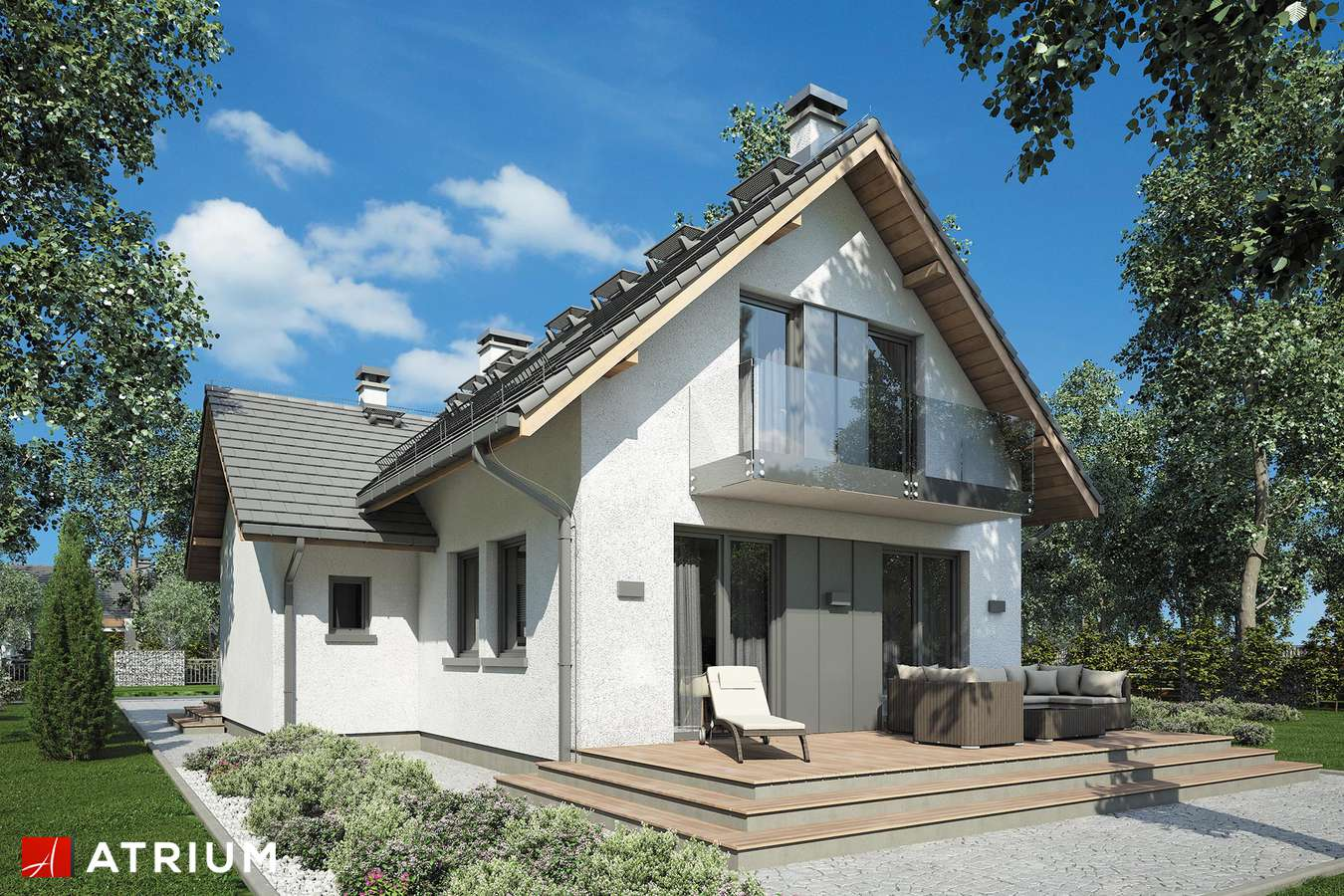 Projekty domów - Projekt domu z poddaszem SIGMA - wizualizacja 1