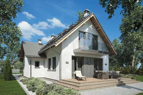 Projekt domu z poddaszem SIGMA - wizualizacja 1