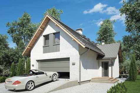 Projekt domu z poddaszem SIGMA - wizualizacja 2