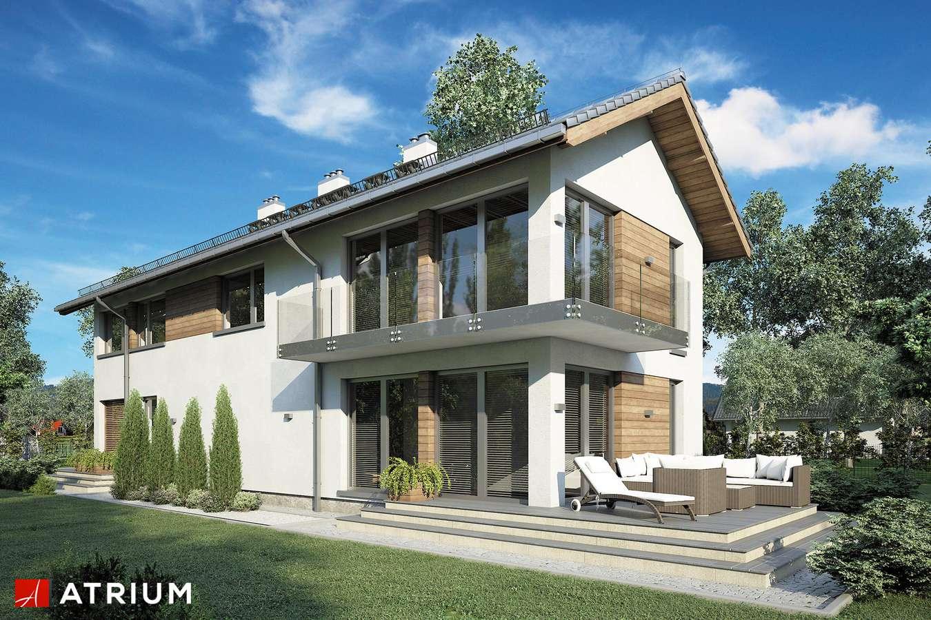 Projekty domów - Projekt domu piętrowego ORLANDO - wizualizacja 1 - wersja lustrzana