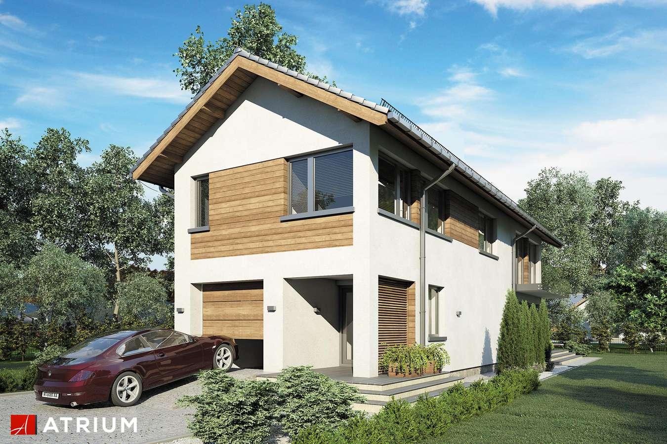 Projekty domów - Projekt domu piętrowego ORLANDO - wizualizacja 2 - wersja lustrzana
