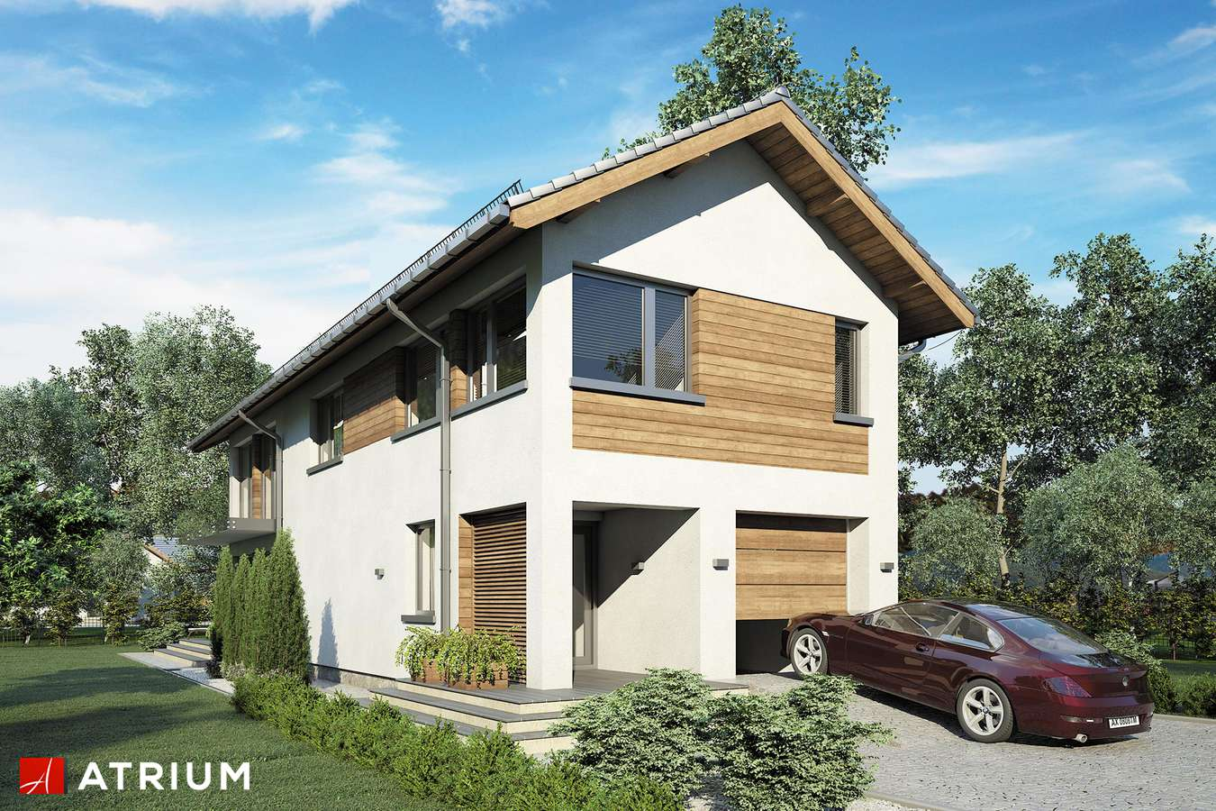 Projekty domów - Projekt domu piętrowego ORLANDO - wizualizacja 2