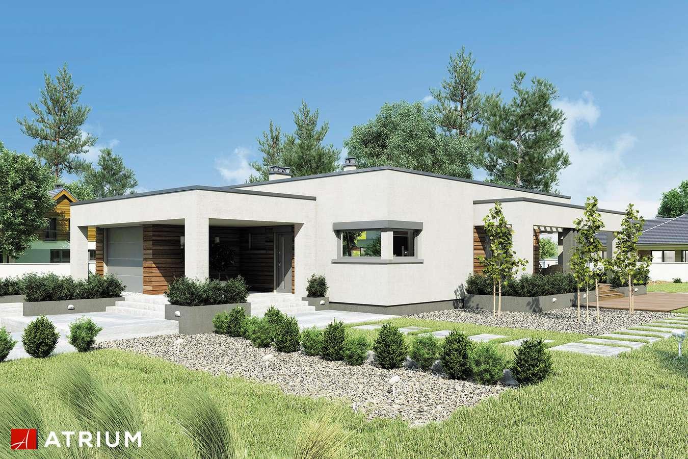 Projekty domów - Projekt domu parterowego SARDYNIA II SZ - wizualizacja 1 - wersja lustrzana