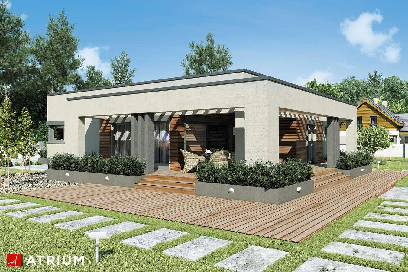 Projekty domów - Projekt domu parterowego SARDYNIA II SZ - wizualizacja 2 - wersja lustrzana