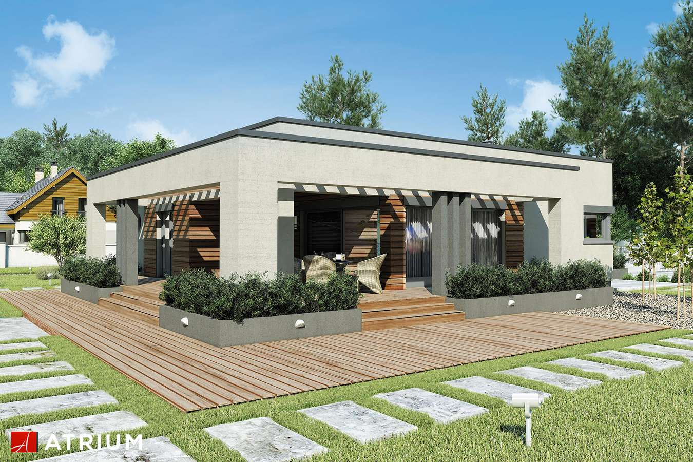 Projekty domów - Projekt domu parterowego SARDYNIA II SZ - wizualizacja 2