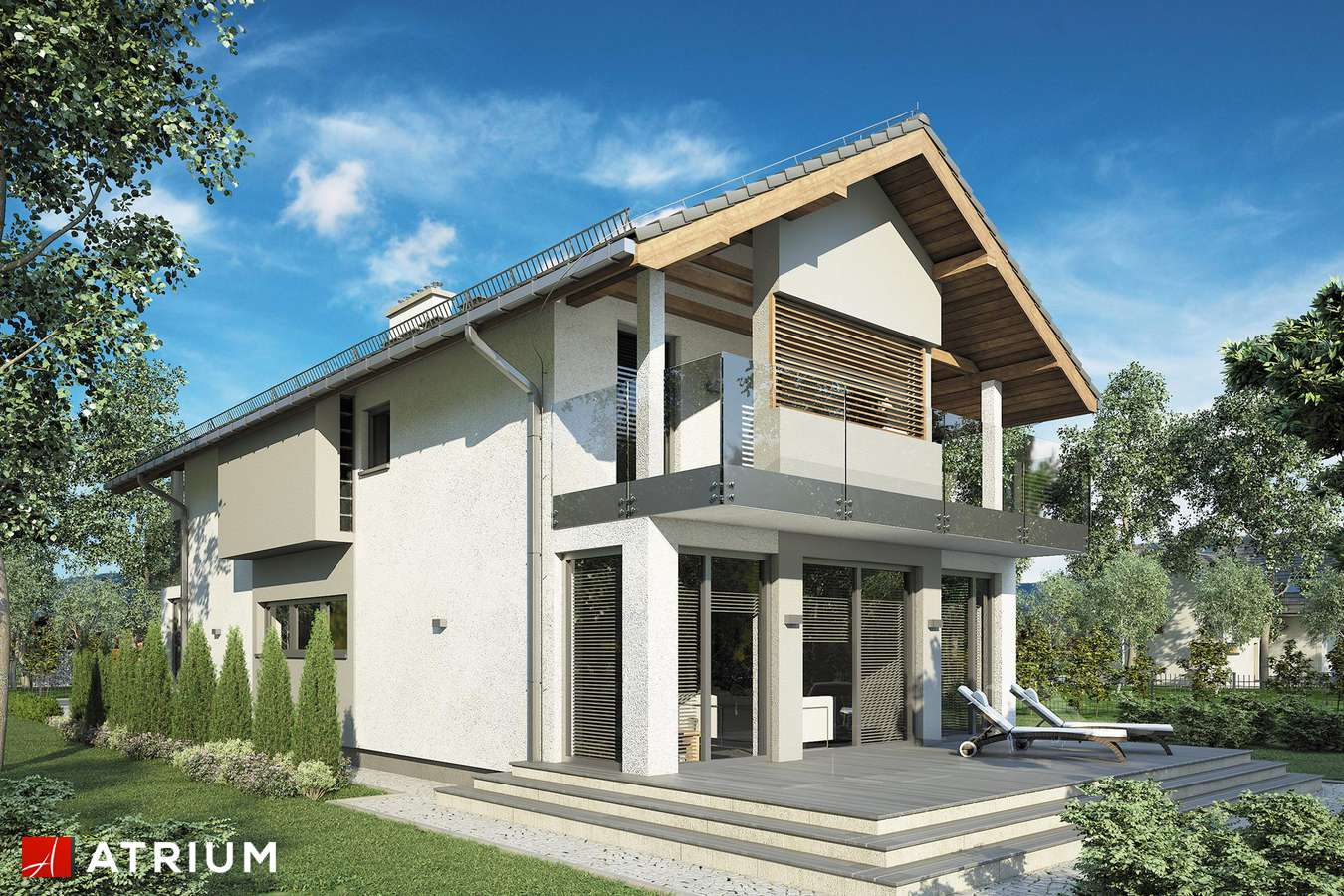 Projekty domów - Projekt domu piętrowego GARDA III - wizualizacja 2