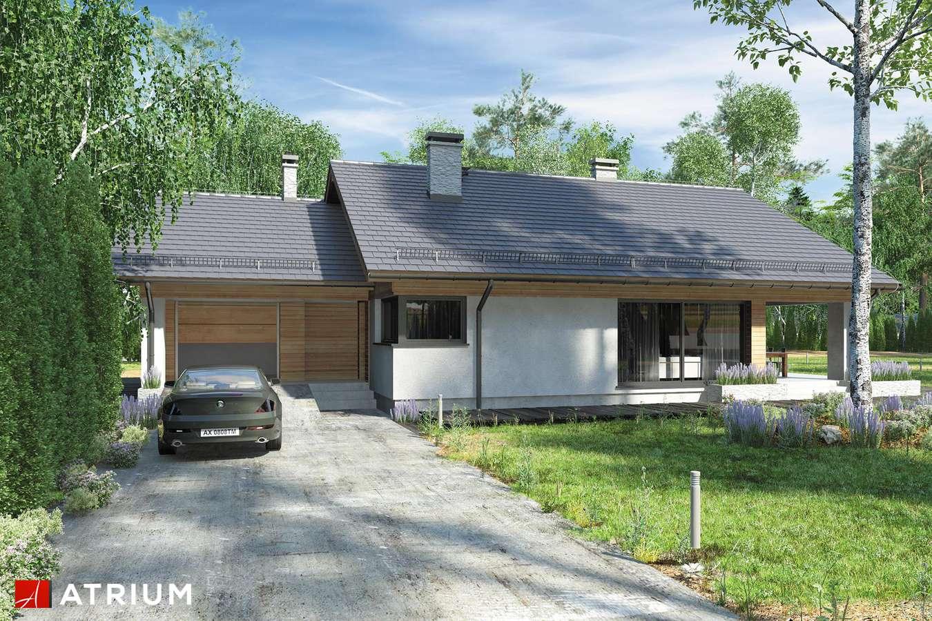 Projekty domów - Projekt domu z poddaszem KOS VII - wizualizacja 1 - wersja lustrzana