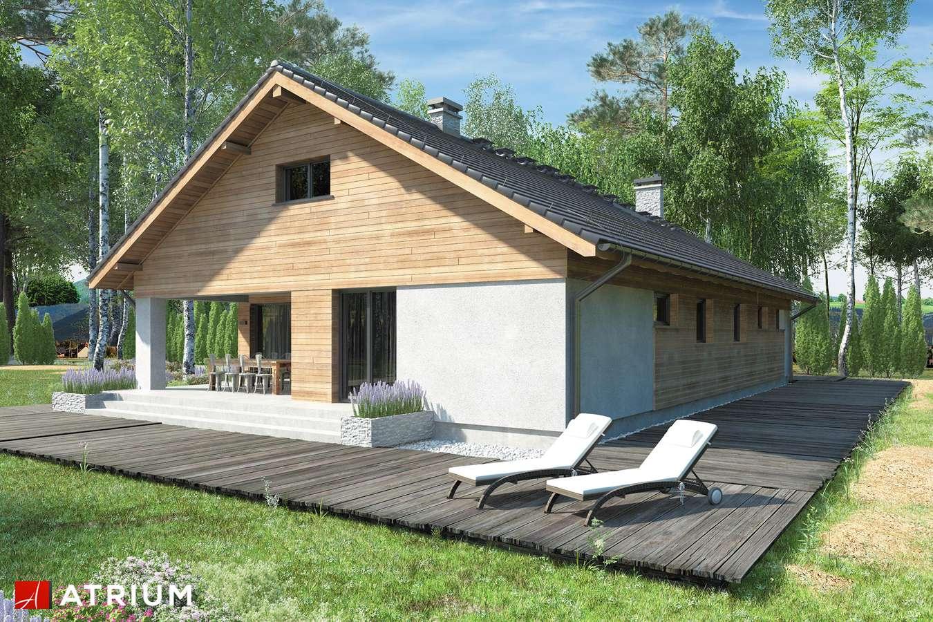 Projekty domów - Projekt domu z poddaszem KOS VII - wizualizacja 2 - wersja lustrzana