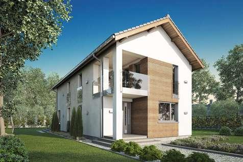 Projekt domu piętrowego SOLARIS - wizualizacja 1