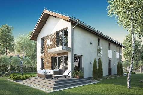 Projekt domu piętrowego SOLARIS - wizualizacja 2