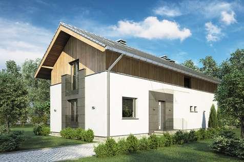 Projekt domu z poddaszem HAPPY HOME - wizualizacja 1