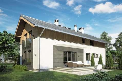 Projekt domu z poddaszem HAPPY HOME - wizualizacja 2