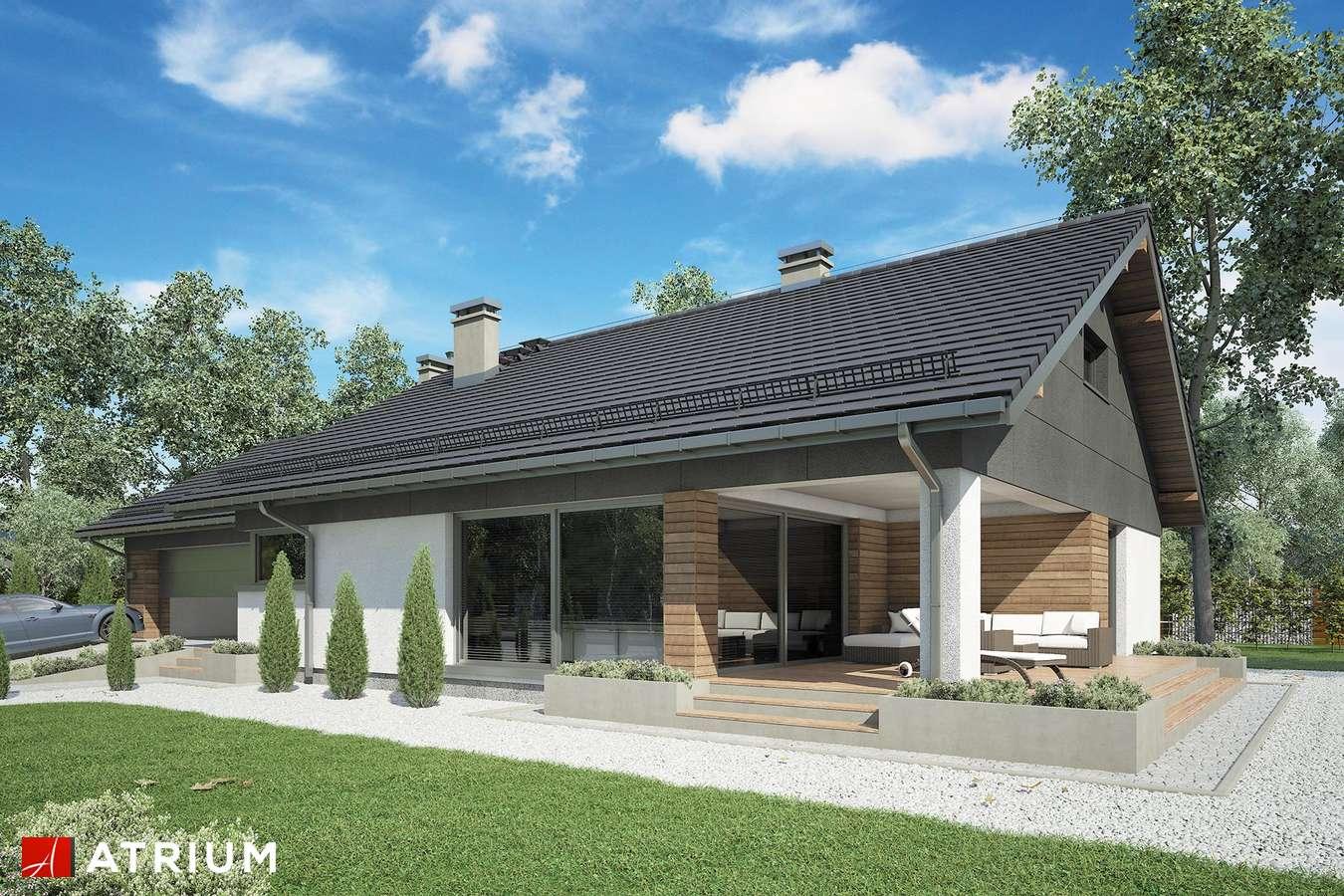 Projekty domów - Projekt domu z poddaszem KOS VIII - wizualizacja 1 - wersja lustrzana