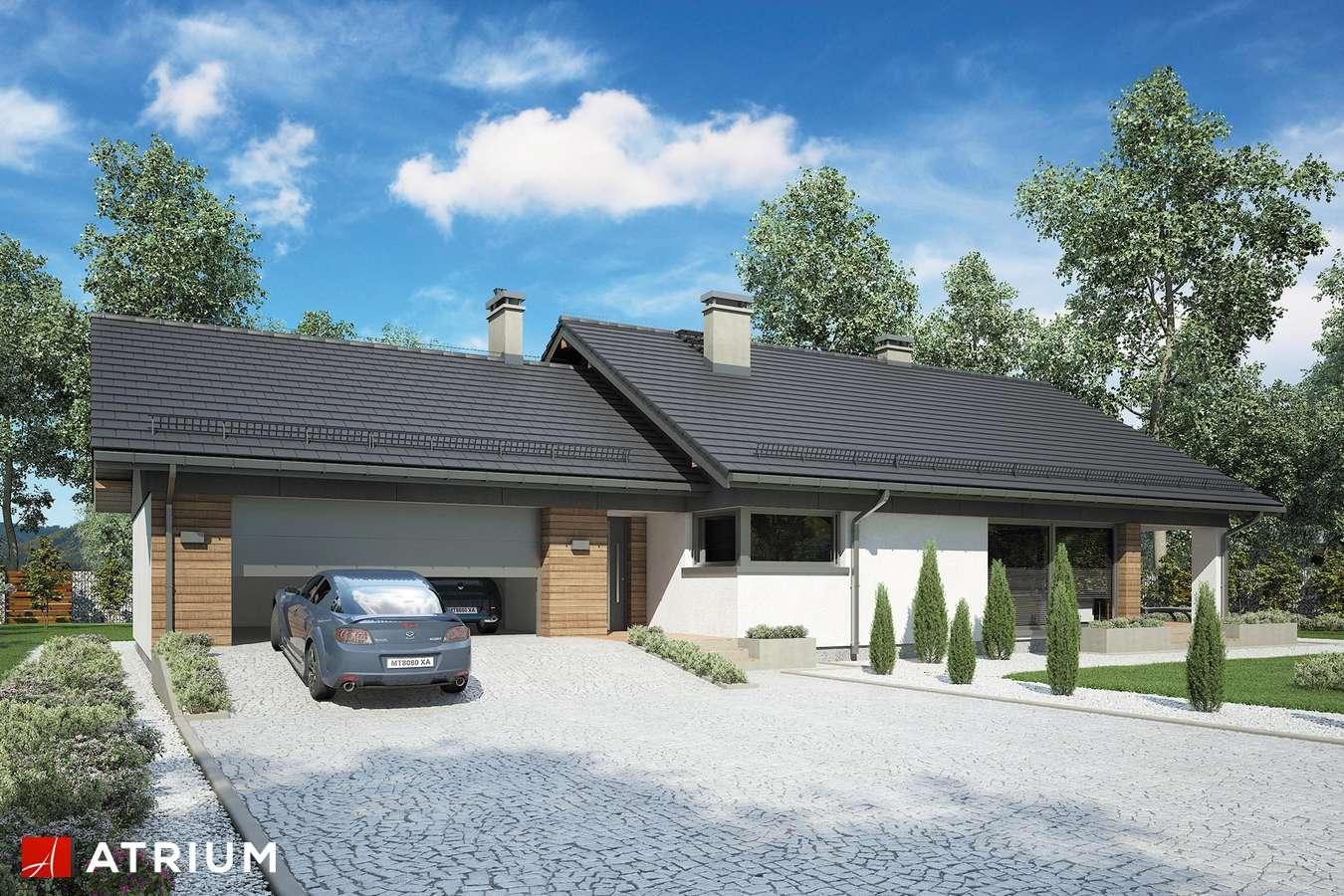 Projekty domów - Projekt domu z poddaszem KOS VIII - wizualizacja 2 - wersja lustrzana