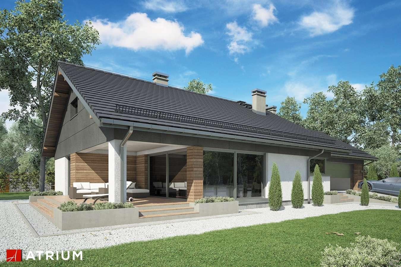 Projekty domów - Projekt domu z poddaszem KOS VIII - wizualizacja 1