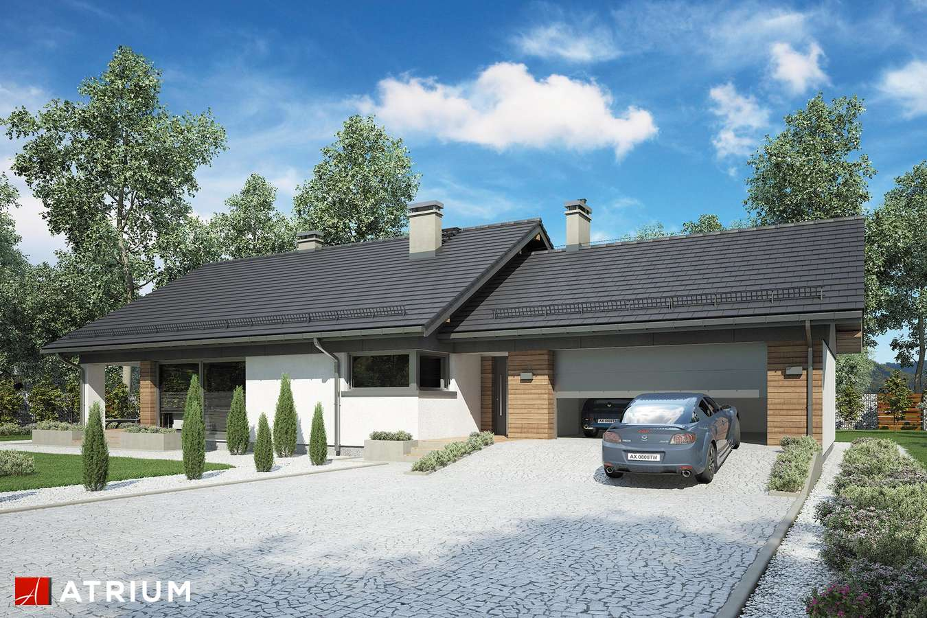 Projekty domów - Projekt domu z poddaszem KOS VIII - wizualizacja 2