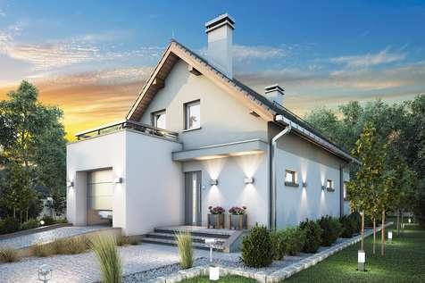 Projekt domu z poddaszem TWIST II - wizualizacja 1