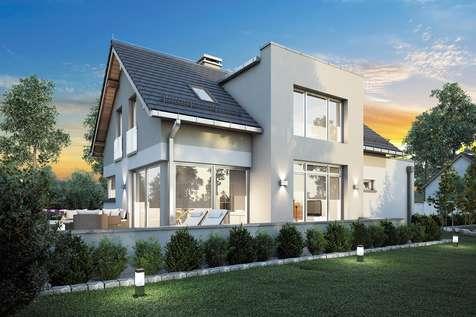 Projekt domu z poddaszem TWIST II - wizualizacja 2