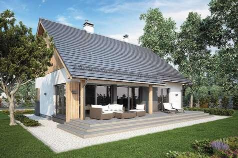 Projekt domu parterowego ROY IV SZ - wizualizacja 2