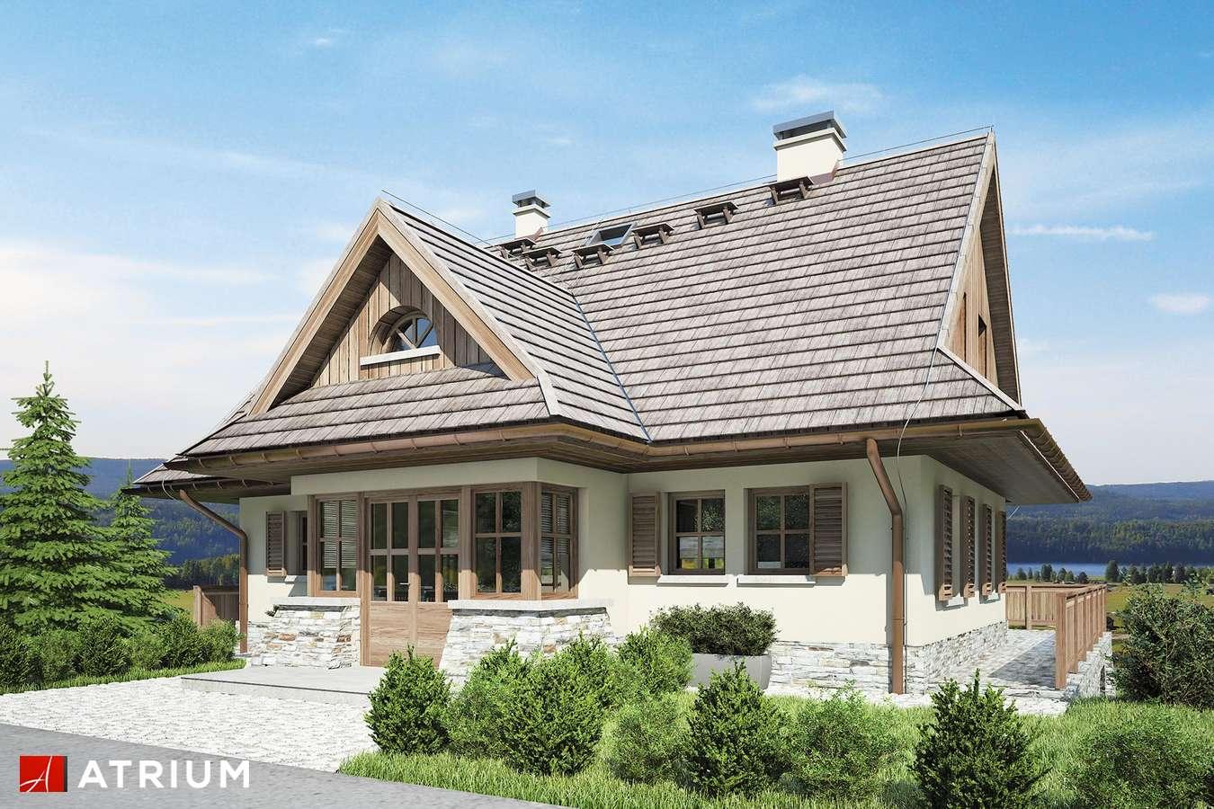 Projekty domów - Projekt domu z poddaszem SOBóTKA - wizualizacja 1 - wersja lustrzana