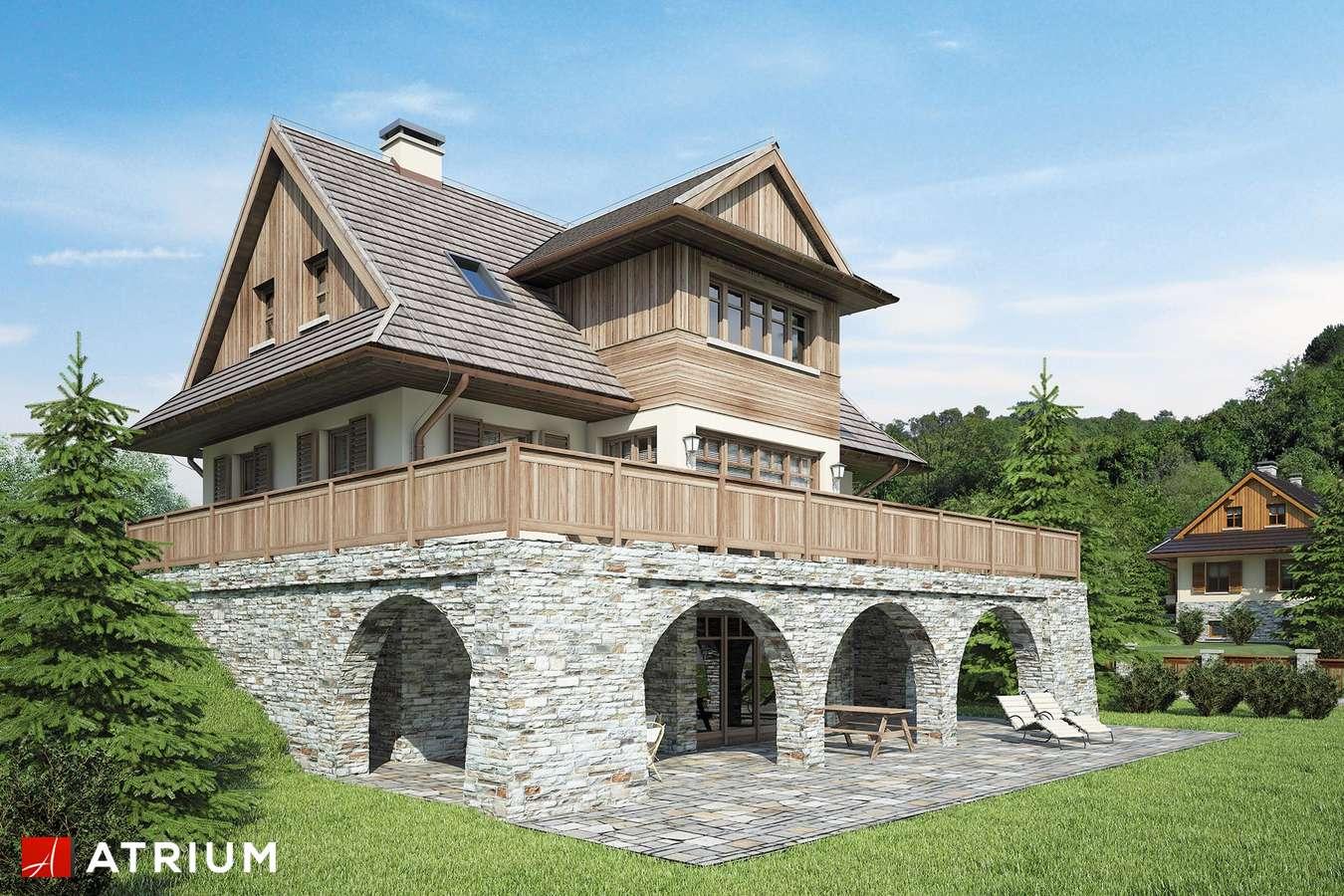 Projekty domów - Projekt domu z poddaszem SOBóTKA - wizualizacja 2 - wersja lustrzana