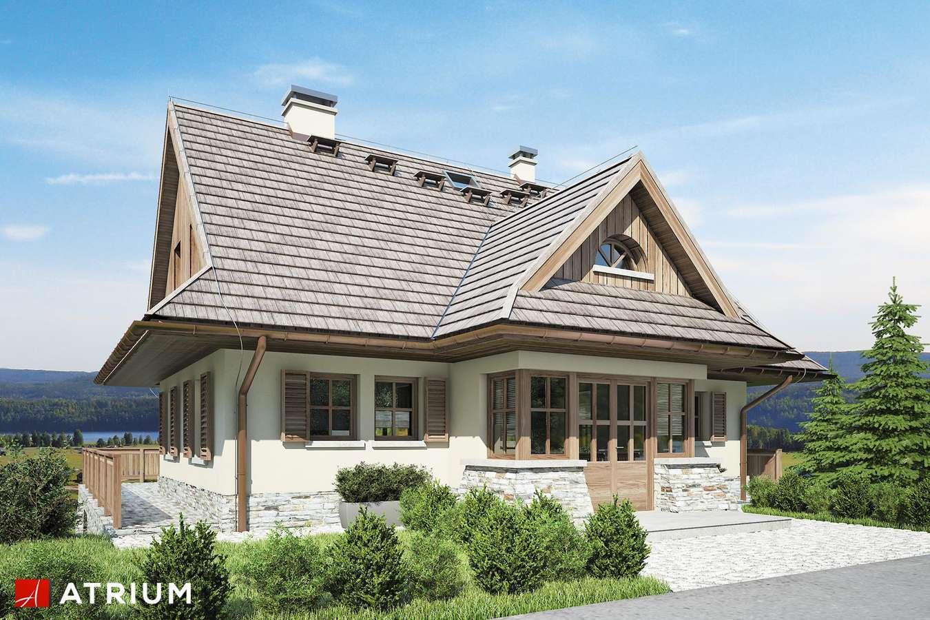 Projekty domów - Projekt domu z poddaszem SOBóTKA - wizualizacja 1